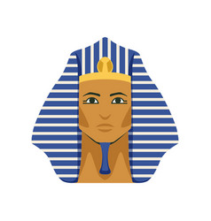 egyptian golden tutankhamen pharaoh mask symbol vector image