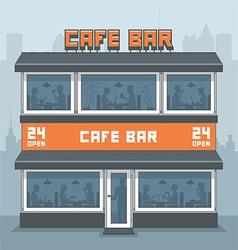 Facade of a cafe vector