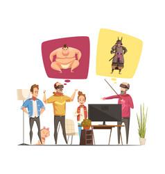 family hobbies design concept vector image