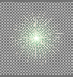 festive firework burst green color vector image