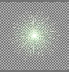 Festive firework burst green color vector