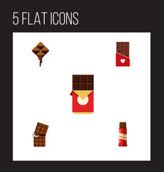 Flat icon chocolate set of wrapper chocolate bar vector