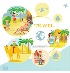 flat travel template vector image