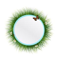 Floral frame grass background vector