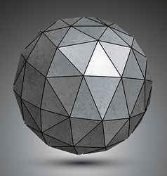 Galvanized dimensional sphere metal perspective vector