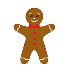 gingerbread man for christmas holiday vector image