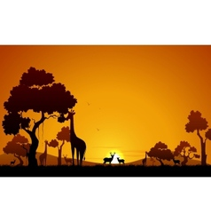 Giraffe and Deer in Jungle vector image