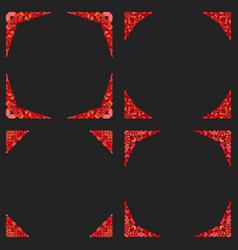 Gravel mosaic page corner design set - design vector