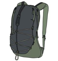 Green travel backpack vector