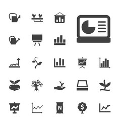 Growing icons vector