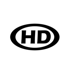 hd modern black icon vector image