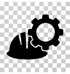 Helmet And Gear Icon vector