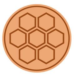 honeycombs bronze coin vector image