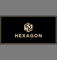 Hs hexagon logo design inspiration vector