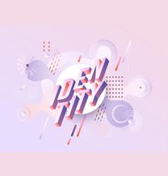 Identity vibrant gradient poster template vector