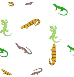 Iguana pattern cartoon style vector