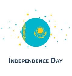 Independence day of kazakhstan patriotic banner vector