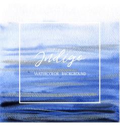 Indigo ultra marine color watercolor and gouache vector