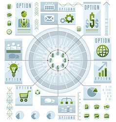 Infographics circular composition circle divided vector image