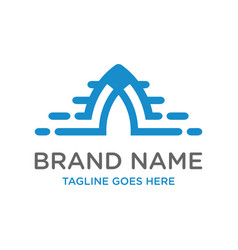 initial logo design technology vector image