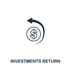 Investments return outline icon thin line element vector