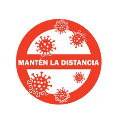 Keep distance - corona virus 2020 corona virus in vector