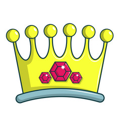 Lady crown icon cartoon style vector