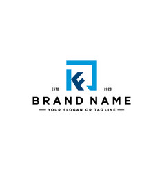 Letter kf logo design vector