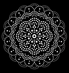 mandala bohemian dot painting design vector image