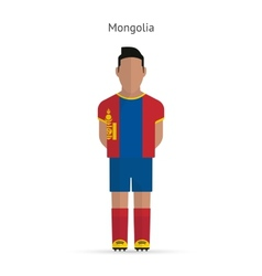 Mongolia football player Soccer uniform vector