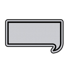 Monochrome rectangular speech with black outline vector