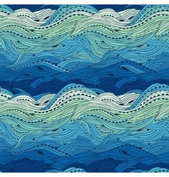 Pattern sea blue big vector