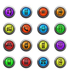 phone icon set vector image