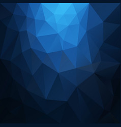 polygonal square background deep blue vector image