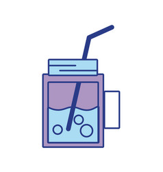 refreshment beverage to hot day in the sun vector image