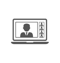 Remote working with a business meeting held via vector
