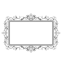 retro floral frame vector image