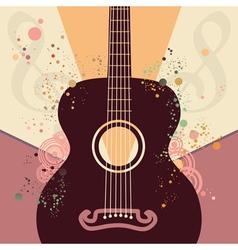 Retro Guitar Poster vector
