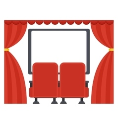 Screen in movie theater vector