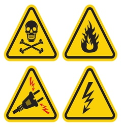 Set of Warning Sign vector