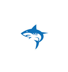 Shark fish logo design vector