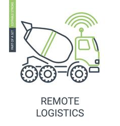 smart remote logistics icon with editable stroke vector image
