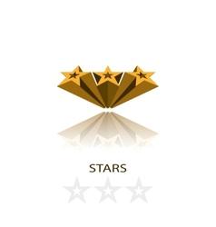 Stars 3d vector