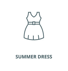summer dress line icon linear concept vector image