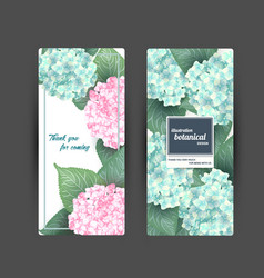 summer flower banners with hydrangea vector image