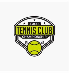 Tennis club badge logo-11 vector