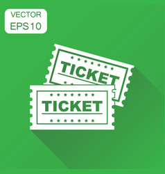 Ticket cinema icon business concept admit one vector