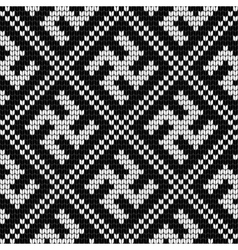 Traditional Baltic knitting pattern with Swastika vector image