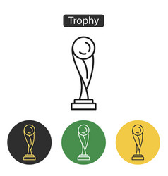 Trophy icon isolated on white background vector