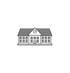 University line icon school and building vector